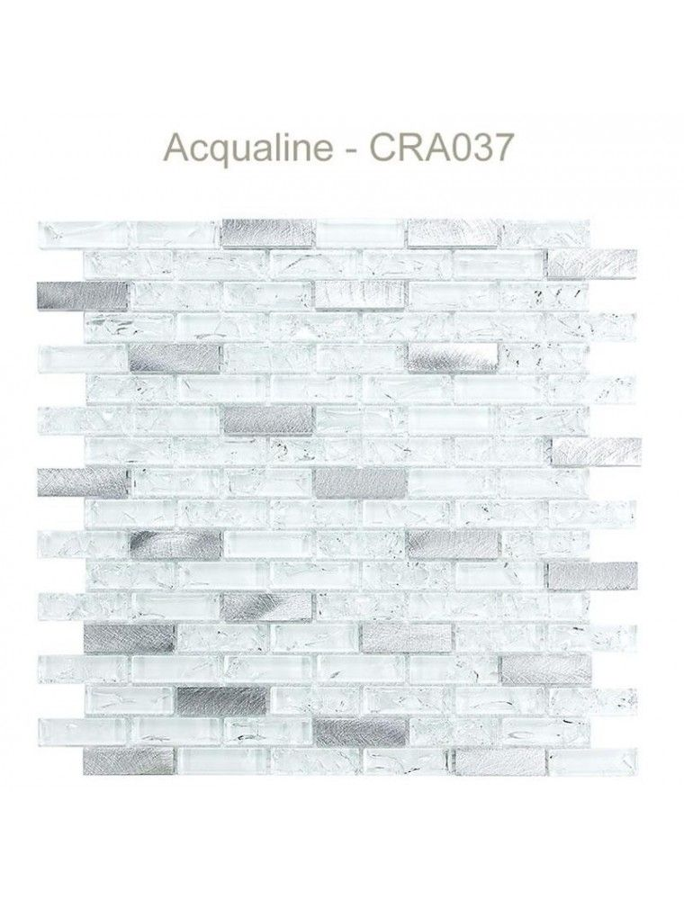 MOSAIQUE CRAQUELEE BLANC/ALU 30X30CM