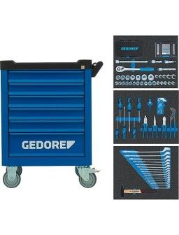 Chariot d'atelier GEDORE equipement d'outillage 172 pieces