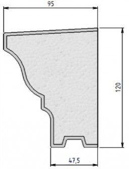APPUI DE FENETRE (CORNICHE) ISOLANT ET DECORATIF - BAUSTYL FLEX