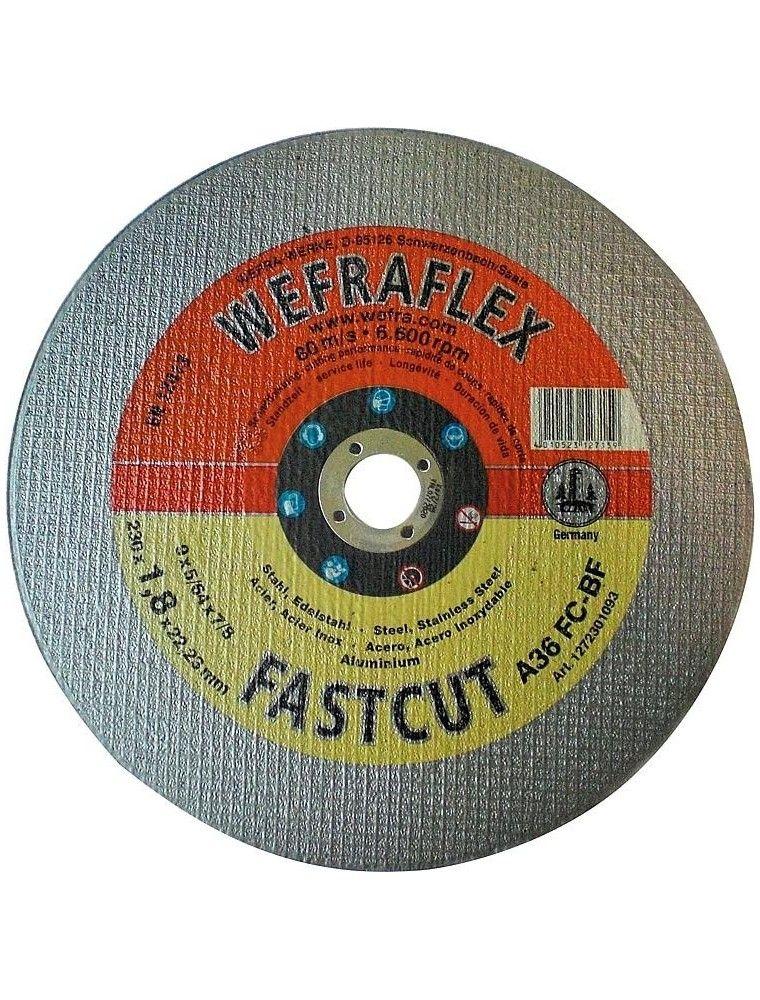 Disque de tronconnage Fastcut droit pour metal diam 230 x 1,8 x 22 mm