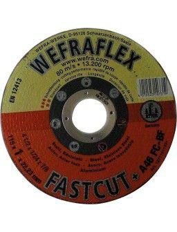 Disque de tronconnage Fastcut droit pour metal diam 125 x 1,5 x 22 mm