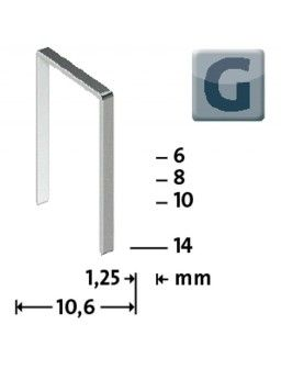 Agrafe Type G 11/6 zinguee - 5000 pièces