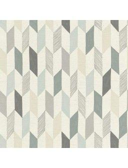 Papier peint intissé GEOMETRIK bleu/gris/beige